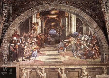 The Expulsion of Heliodorus from the Temple by Raphael - Reproduction Oil Painting