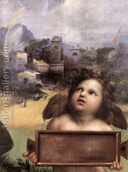 The Madonna of Foligno [detail: 1] by Raphael - Reproduction Oil Painting