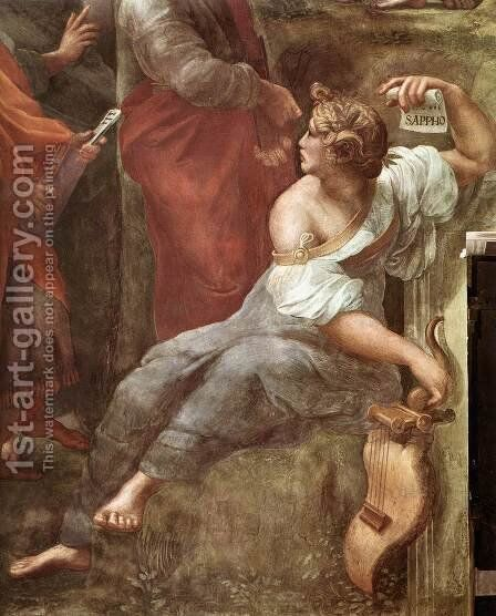 The Parnassus [detail: 5] by Raphael - Reproduction Oil Painting
