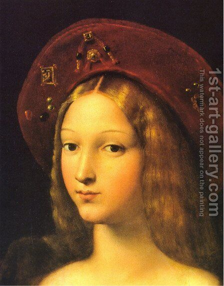 Joanna of Aragon [detail] by Raphael - Reproduction Oil Painting
