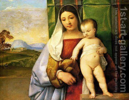 The Gipsy Madonna by Tiziano Vecellio (Titian) - Reproduction Oil Painting