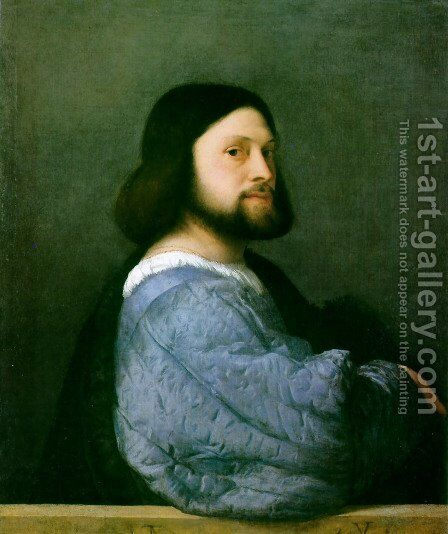 Portrait of Ariosto by Tiziano Vecellio (Titian) - Reproduction Oil Painting