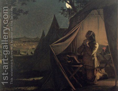 The Night before Naseby by Augustus Leopold Egg - Reproduction Oil Painting