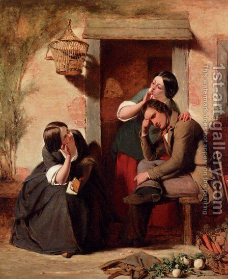 A Teasing Riddle by Augustus Leopold Egg - Reproduction Oil Painting