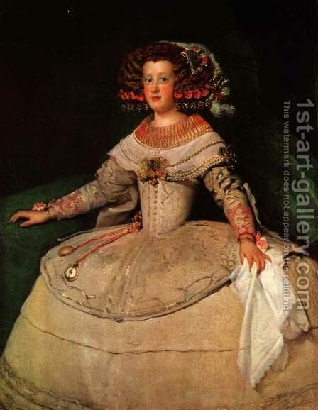 Maria Teresa of Spain (with 'the two watches') by Velazquez - Reproduction Oil Painting