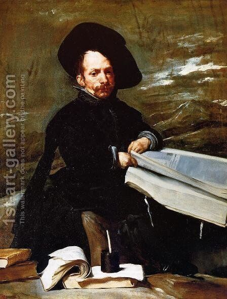 A Dwarf Holding a Tome in His Lap (or Don Diego de Acedo, el Primo) by Velazquez - Reproduction Oil Painting