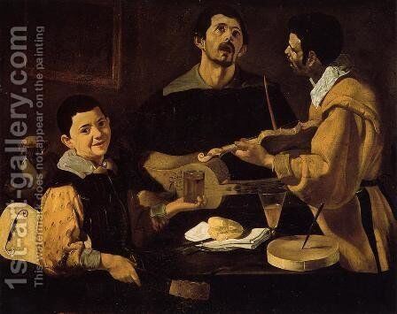 Three Musicians (or Musical Trio) by Velazquez - Reproduction Oil Painting