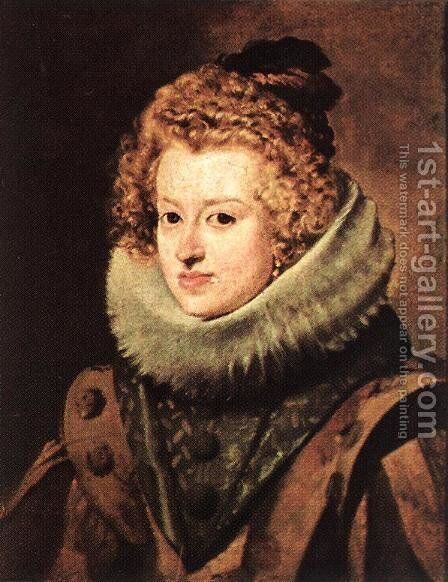 Doña Maria de Austria, Queen of Hungary by Velazquez - Reproduction Oil Painting
