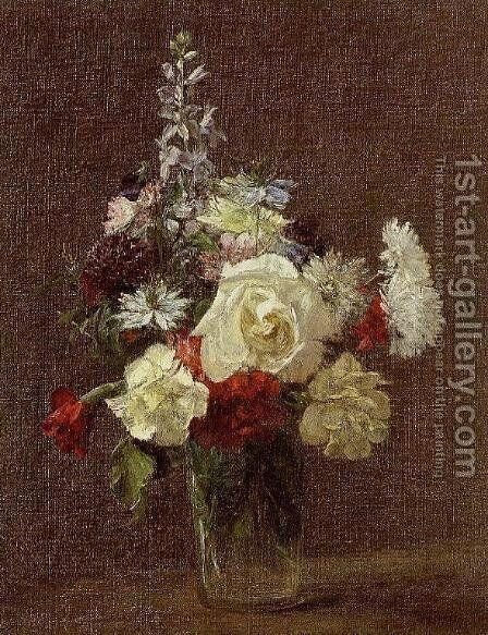Mixed Flowers by Ignace Henri Jean Fantin-Latour - Reproduction Oil Painting
