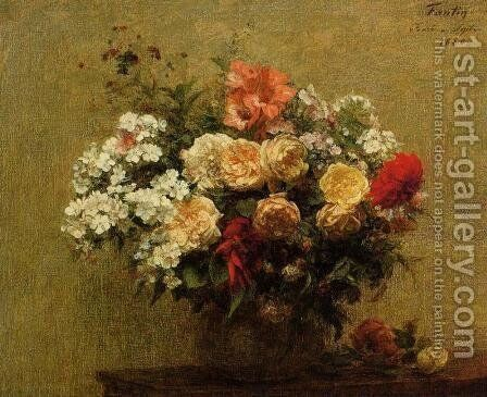 Summer Flowers by Ignace Henri Jean Fantin-Latour - Reproduction Oil Painting