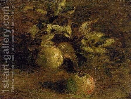 Apples by Ignace Henri Jean Fantin-Latour - Reproduction Oil Painting