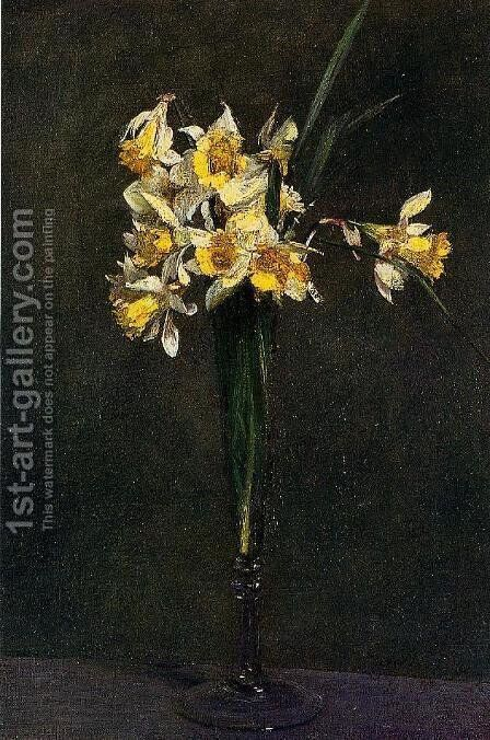 Yellow Flowers (or Coucous) by Ignace Henri Jean Fantin-Latour - Reproduction Oil Painting