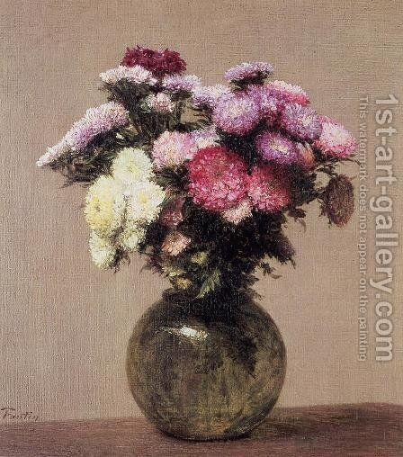 Daisies by Ignace Henri Jean Fantin-Latour - Reproduction Oil Painting