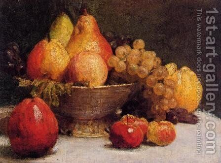 Bowl of Fruit by Ignace Henri Jean Fantin-Latour - Reproduction Oil Painting