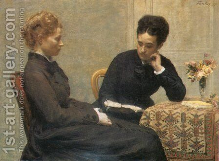 La Lecture by Ignace Henri Jean Fantin-Latour - Reproduction Oil Painting