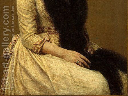 Portrait of Sonia [detail: 2] by Ignace Henri Jean Fantin-Latour - Reproduction Oil Painting