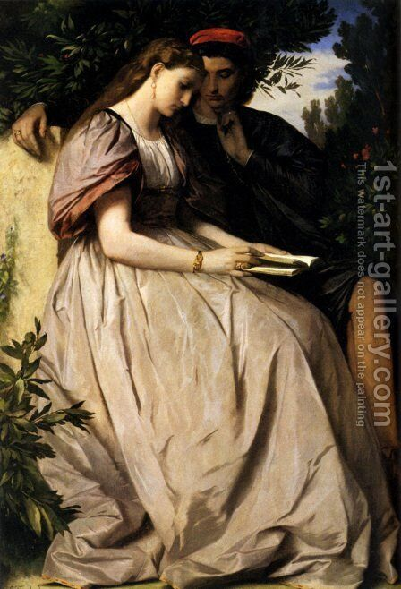 Paolo And Francesca by Anselm Friedrich Feuerbach - Reproduction Oil Painting