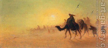Crossing the Desert by Charles Théodore Frère - Reproduction Oil Painting