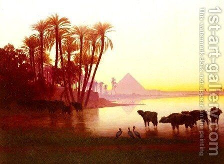 Along The Nile by Charles Théodore Frère - Reproduction Oil Painting