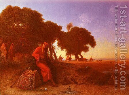 An Arab Encampment by Charles Théodore Frère - Reproduction Oil Painting