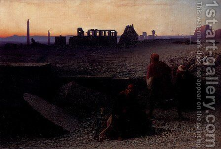 Ruines De Thebes (Haute-Egypte) by Charles Théodore Frère - Reproduction Oil Painting