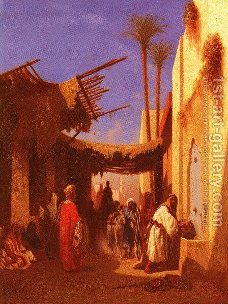 Street In Damascus and Street In Cairo: A Pair of Painting (Pic 1)s by Charles Théodore Frère - Reproduction Oil Painting