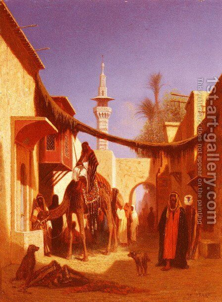 Street In Damascus and Street In Cairo: A Pair of Painting (Pic 2) by Charles Théodore Frère - Reproduction Oil Painting