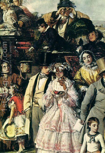 A day at the Races - detail by Benjamin Frith - Reproduction Oil Painting