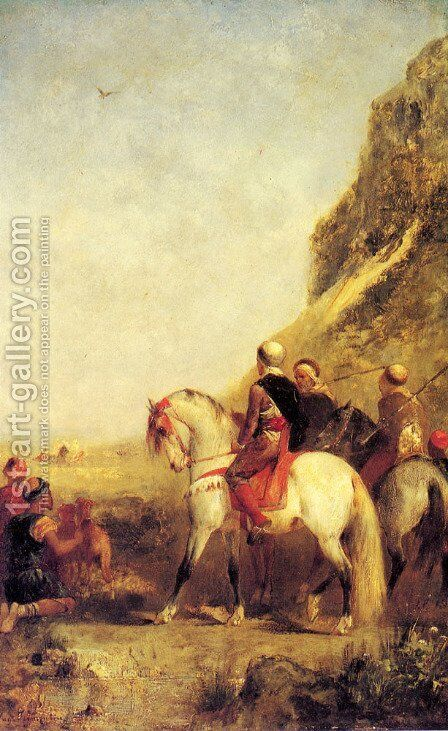 Arabs Hunting by Eugene Fromentin - Reproduction Oil Painting