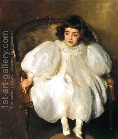 Expectancy (or Portrait of Frances Winifred Hill) by Sargent - Reproduction Oil Painting