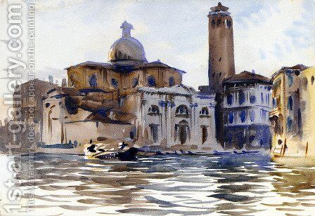 Palazzo Labia and San Geremia, Venice by Sargent - Reproduction Oil Painting
