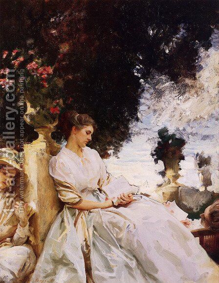 In the Garden, Corfu by Sargent - Reproduction Oil Painting