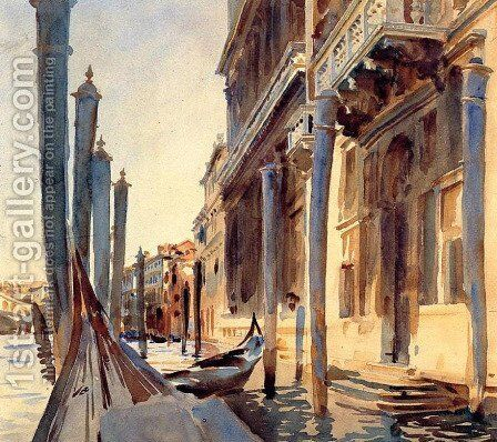 Grand Canal, Venice by Sargent - Reproduction Oil Painting