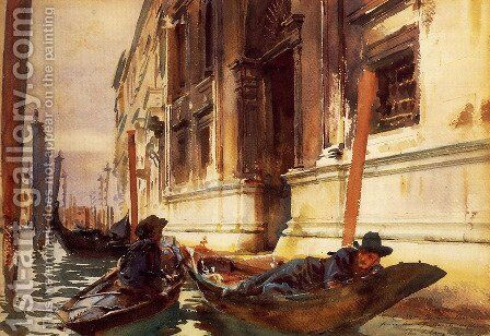 Gondoliers's Siesta by Sargent - Reproduction Oil Painting