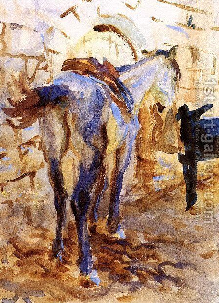 Saddle Horse, Palestine by Sargent - Reproduction Oil Painting
