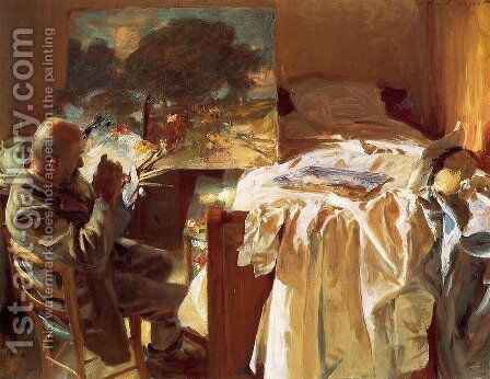 An Artist in His Studio by Sargent - Reproduction Oil Painting