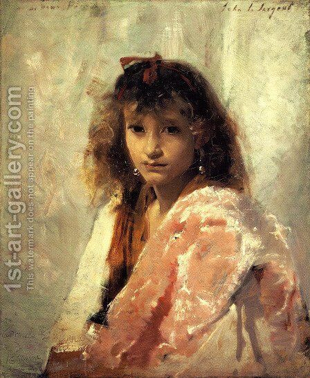 Carmela Bertagna by Sargent - Reproduction Oil Painting