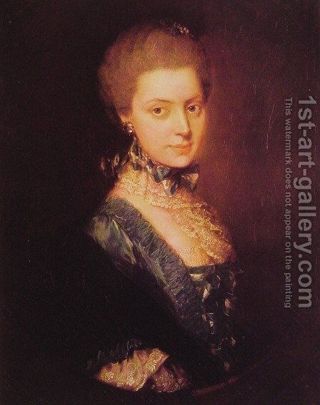 Elizabeth Wrottesley by Thomas Gainsborough - Reproduction Oil Painting