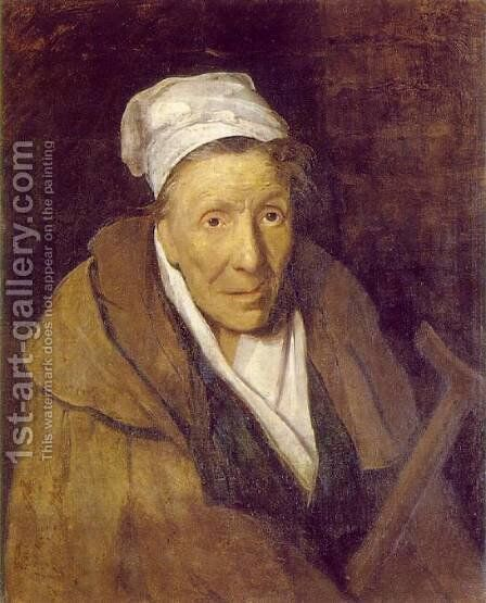 Woman with Gambling Mania by Theodore Gericault - Reproduction Oil Painting