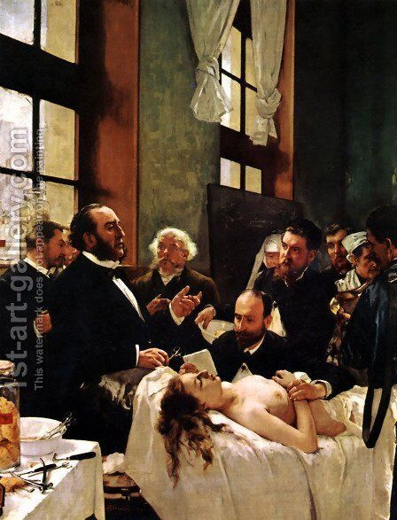 The Operation by Henri Gervex - Reproduction Oil Painting