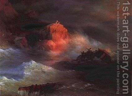 Crash by Ivan Konstantinovich Aivazovsky - Reproduction Oil Painting