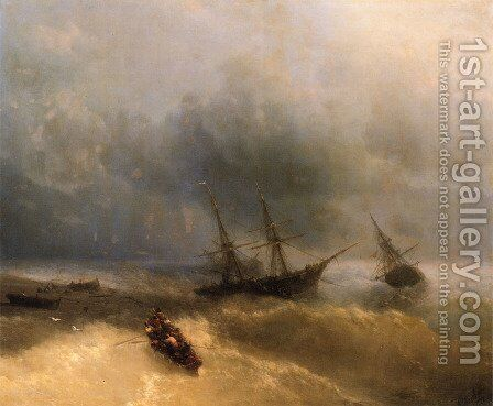 The Shipwreck by Ivan Konstantinovich Aivazovsky - Reproduction Oil Painting