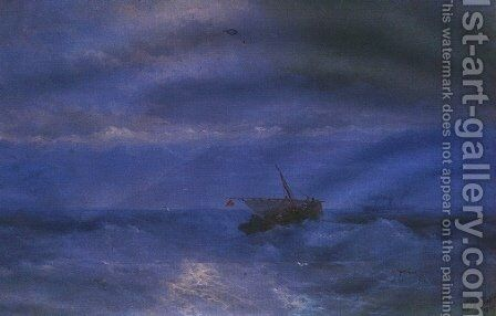 Caucasus from the Sea by Ivan Konstantinovich Aivazovsky - Reproduction Oil Painting