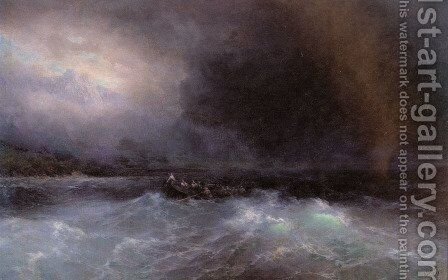 Ship At Sea by Ivan Konstantinovich Aivazovsky - Reproduction Oil Painting