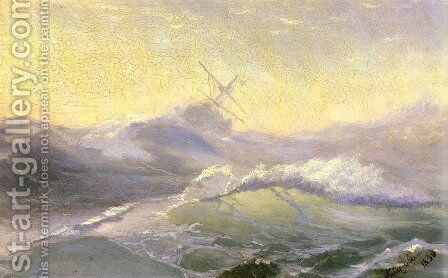 Bracing the Waves by Ivan Konstantinovich Aivazovsky - Reproduction Oil Painting
