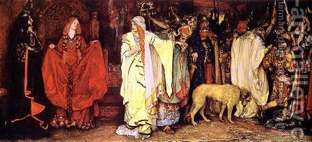 King Lear: Cordelia's Farewell by Edwin Austin Abbey - Reproduction Oil Painting