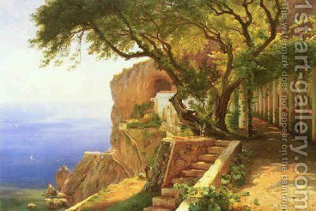 Pergola in Amalfi by Carl Frederick Aagaard - Reproduction Oil Painting