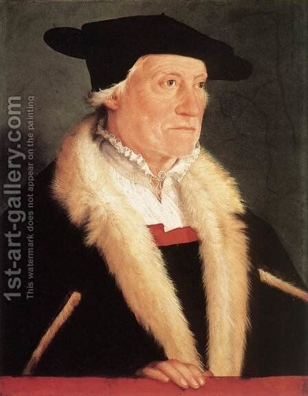 Portrait of the Cosmographer Sebastien Münster by Christoph Amberger - Reproduction Oil Painting