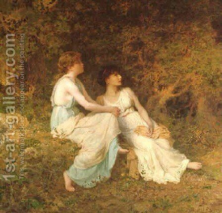 Birdsong by Sophie Gengembre Anderson - Reproduction Oil Painting