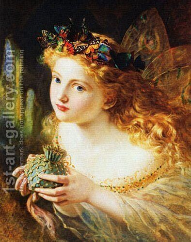 Take the Fair Face of Woman by Sophie Gengembre Anderson - Reproduction Oil Painting